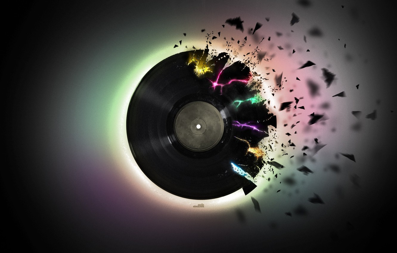 Wallpaper Music Black Pieces Vinyl Record Images For