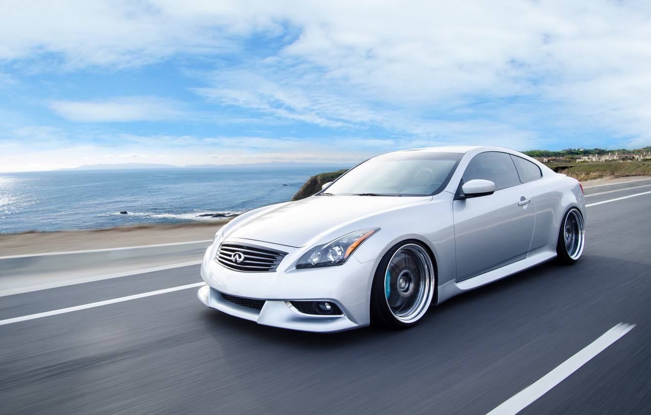 Photo wallpaper car, coupe, infiniti, in motion, infiniti, hq Wallpapers, g37