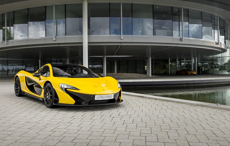Photo wallpaper McLaren, Yellow, Supercar, Yellow, Supercar