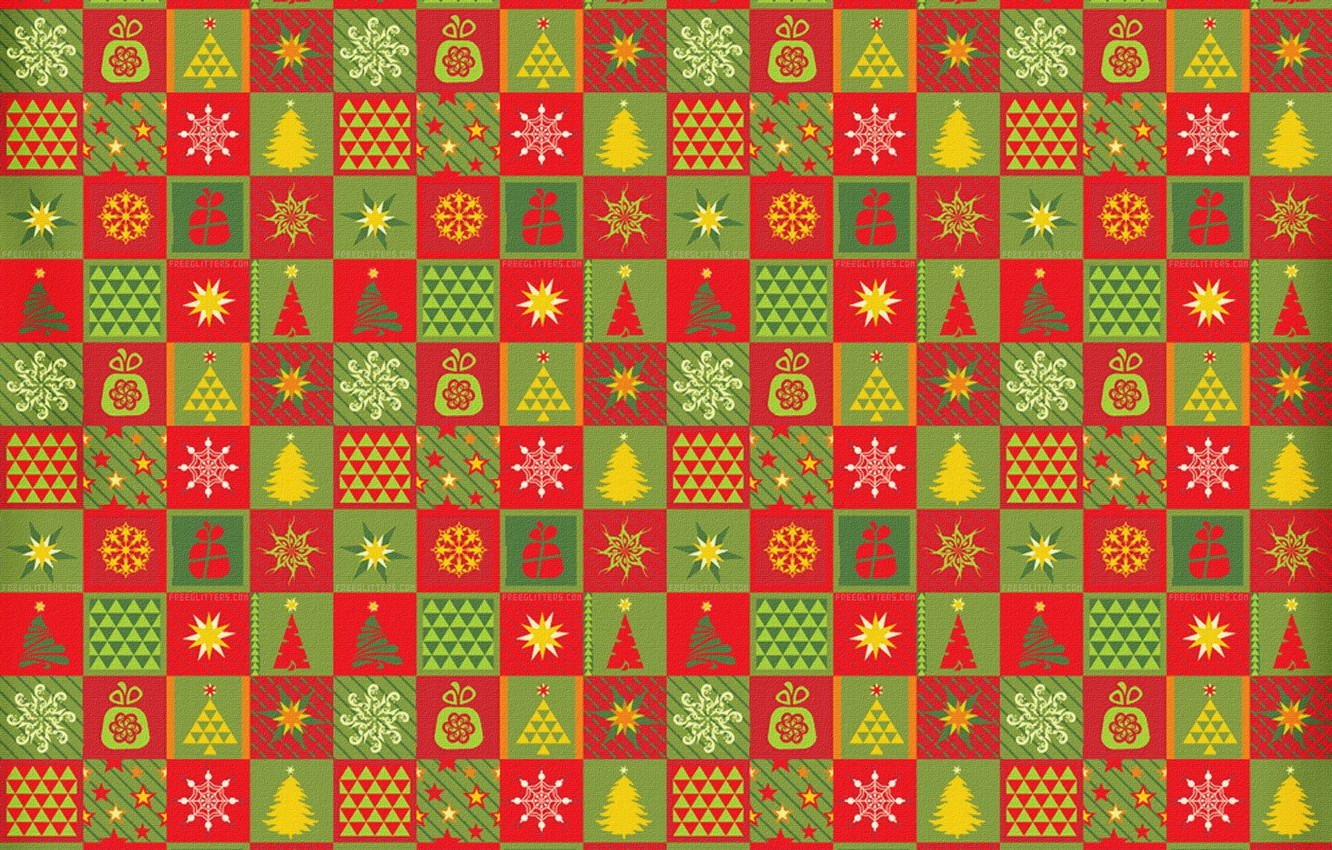 Wallpaper pattern, carpet, star, tree, new year, cells
