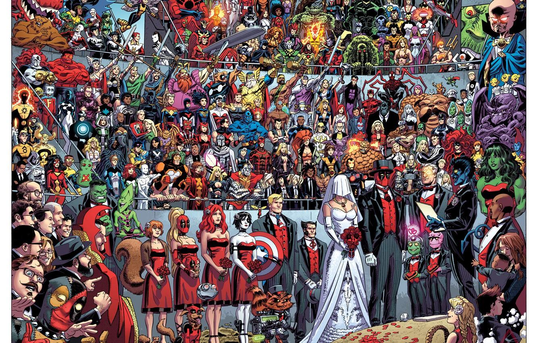 Photo wallpaper Deadpool, Marvel, Deadpool