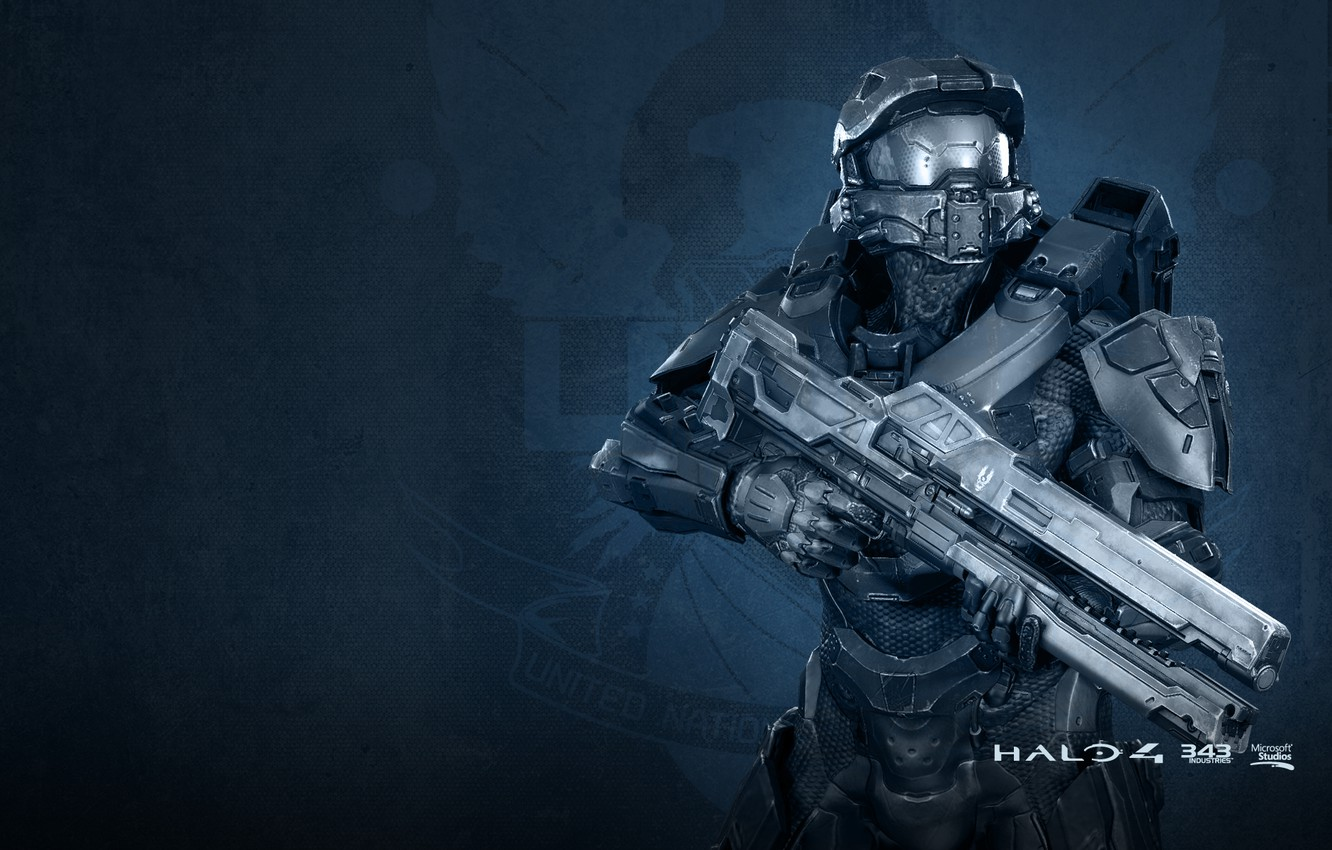 Photo wallpaper soldiers, rifle, the suit, Halo 4