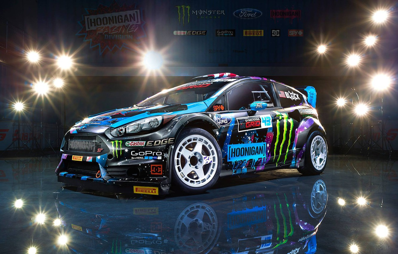 Photo wallpaper Ford, Racing, Block, Fiesta, Ken, Division, Hoonigan, 2015, RX43
