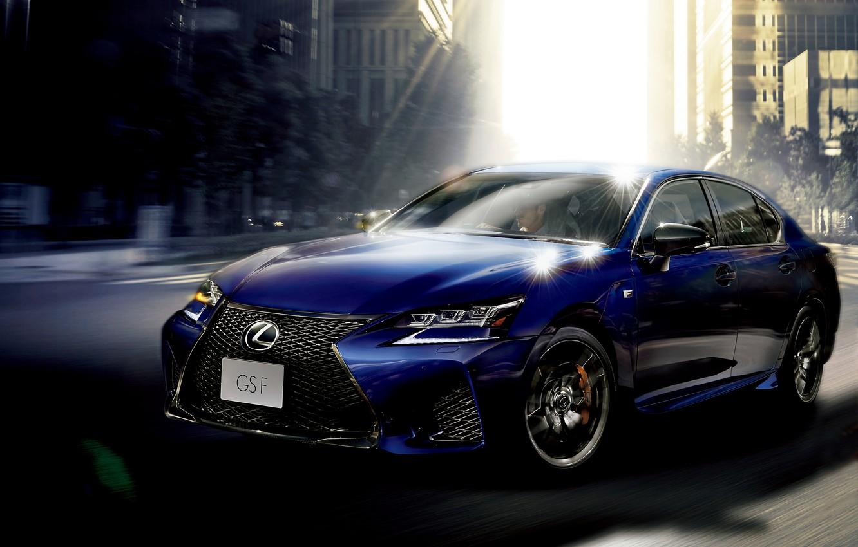 Photo wallpaper blue, Lexus, sedan, Lexus, GS F