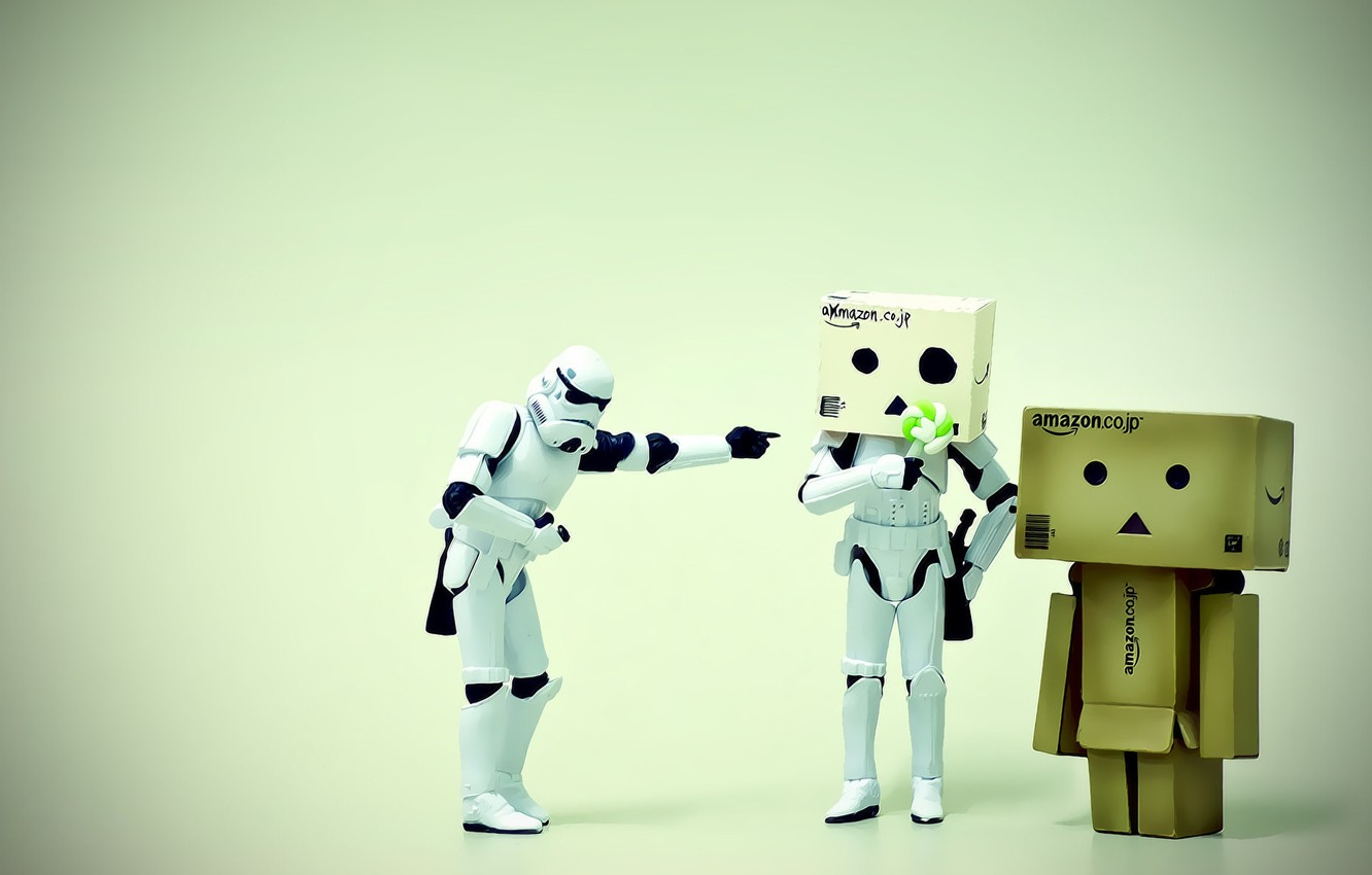 Photo wallpaper macro, the situation, man, star wars, danbo, figures, LEGO, stormtroopers, box