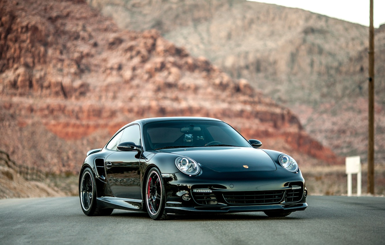 Photo wallpaper 911, Porsche, black, frontside