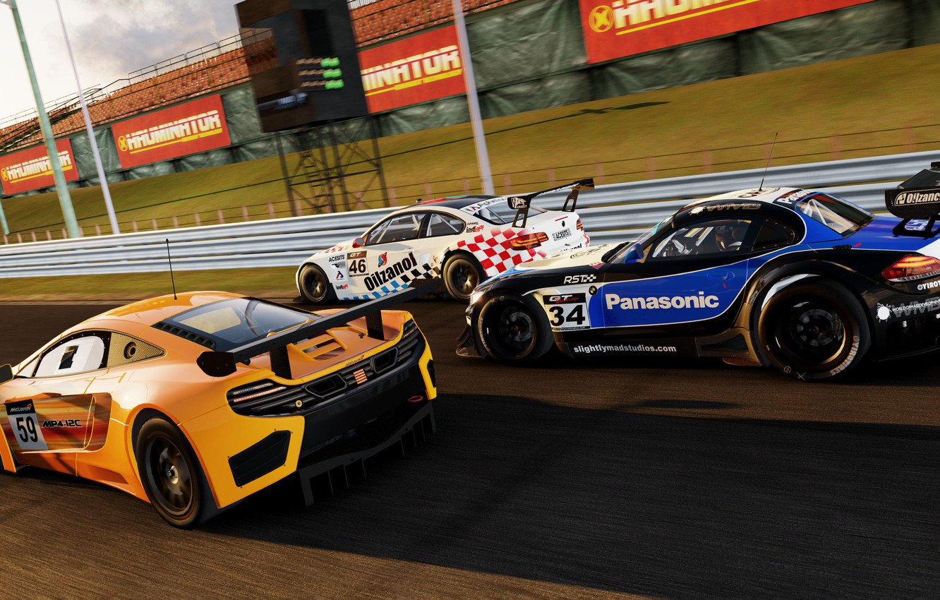 Photo wallpaper the game, bmw, McLaren, gt2, game, gt3, cars, MP4-12C, Project, Project CARS, 2015, Slightly Mad …