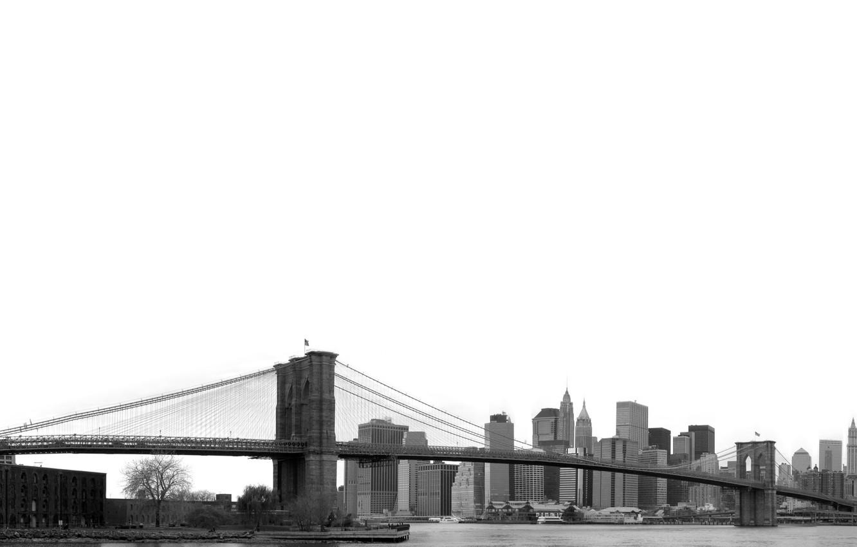 Photo wallpaper the sky, bridge, flag