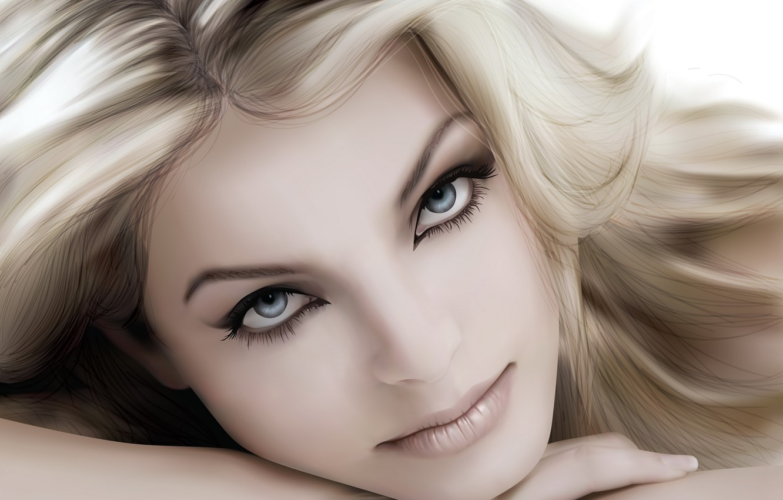 Photo wallpaper portrait, vector, blonde
