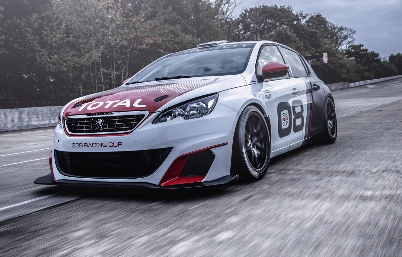 Photo wallpaper race, Peugeot, Peugeot, 308, 2016, Racing Cup