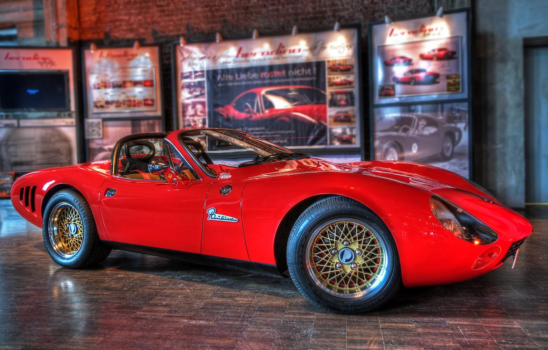 Photo wallpaper car, red, style, Beradino, corvete