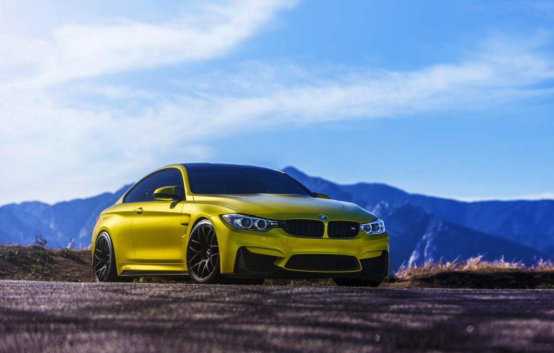 Photo wallpaper BMW, Austin, Yellow, F82, VMR, V710