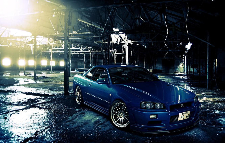 Photo wallpaper nissan, car, skyline, Nissan, Skyline, r-34