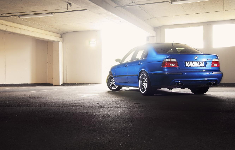 Photo wallpaper BMW, E39, Lemans blue