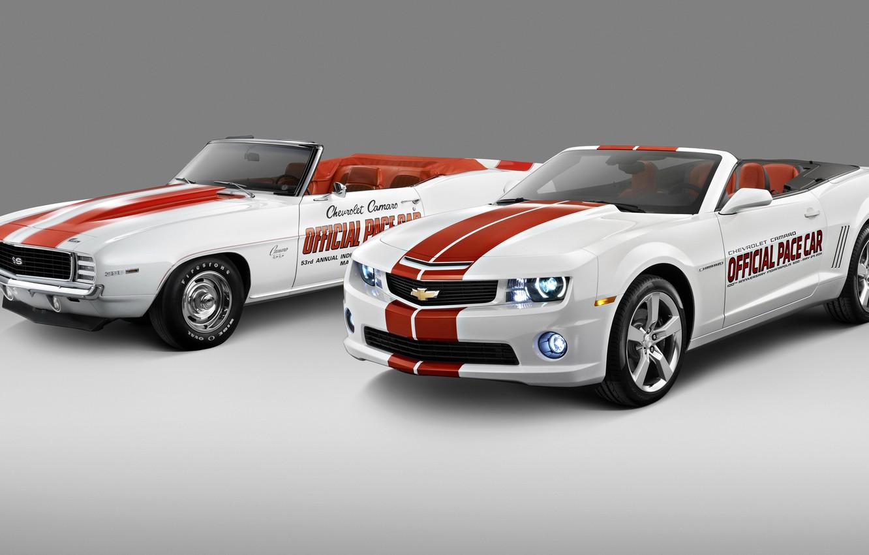 Photo wallpaper photo, White, Chevrolet, Convertible, Two, Camaro, 2011, Cars