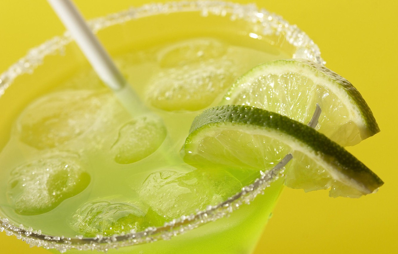 Photo wallpaper Ice, Drink, Lime