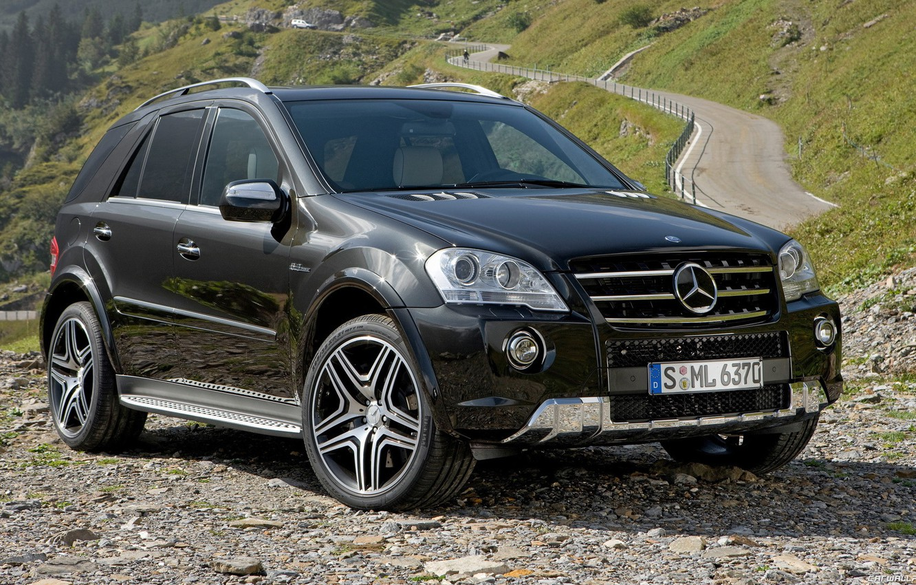Photo wallpaper mountains, height, AMG
