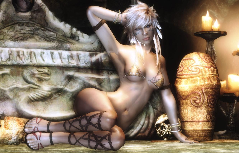 Photo wallpaper girl, rendering, the game, art, screen