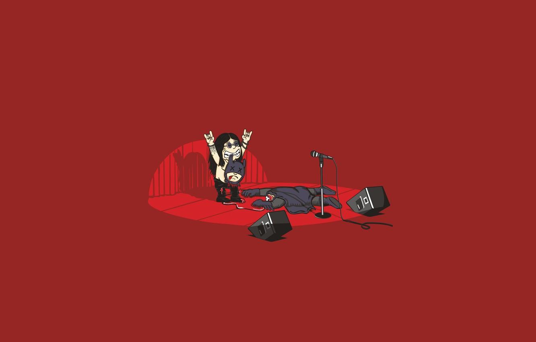Photo wallpaper metal, guitar, Batman, speakers, concert, bat, rock, ozy Osborne, ozzy