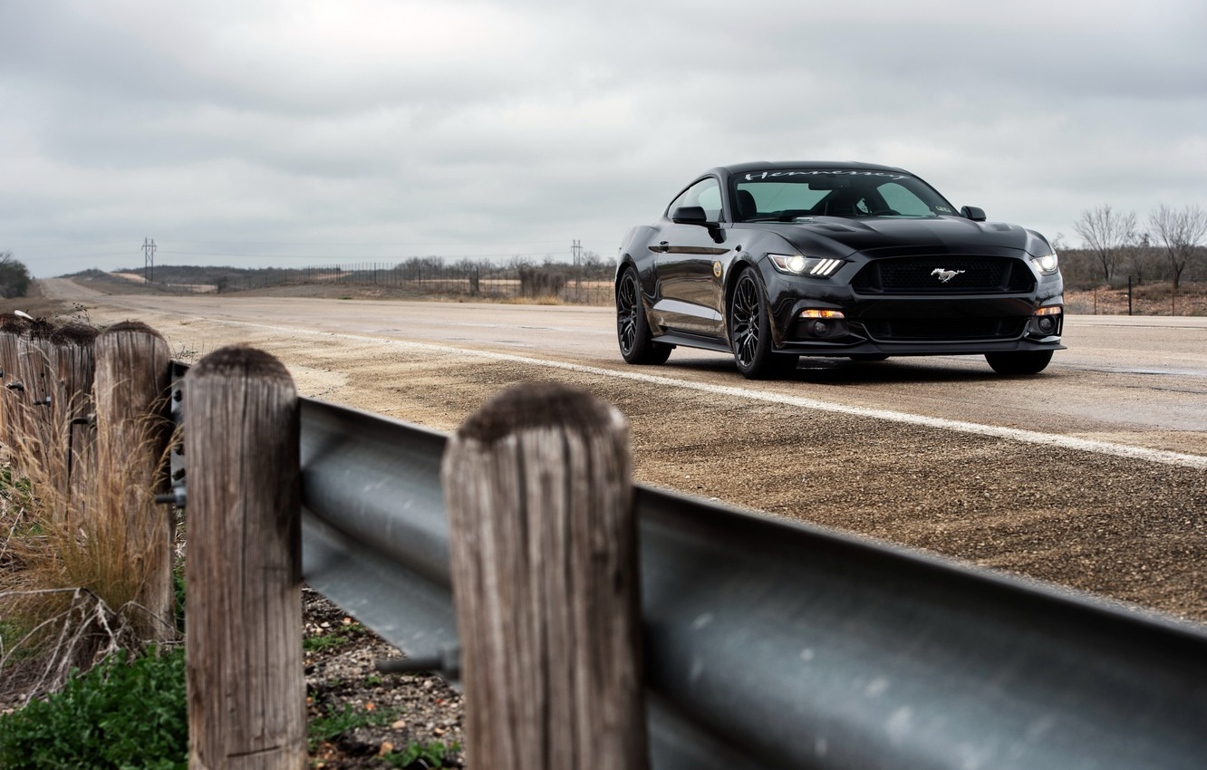 Photo wallpaper Mustang, Ford, Mustang, Ford, Hennessey, Supercharged, HPE700, 2015