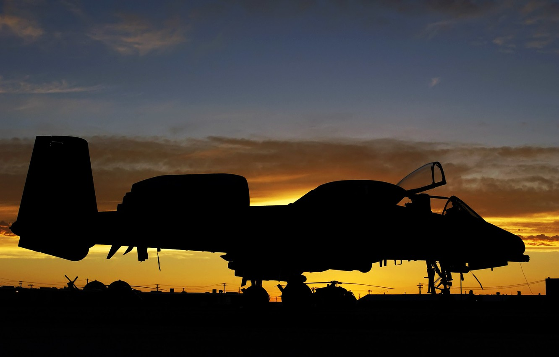 Wallpaper Sunset A 10 Usaf Thunderbolt Ii Aircraft Airbase Images For Desktop Section Aviaciya Download