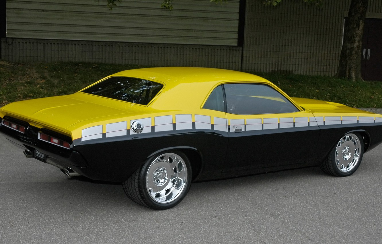 Photo wallpaper tuning, Dodge, Challenger, 1970, Muscle Car