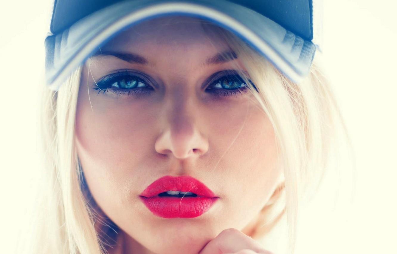 Photo wallpaper girl, face, woman, girl, woman, beautiful, lips, face, person