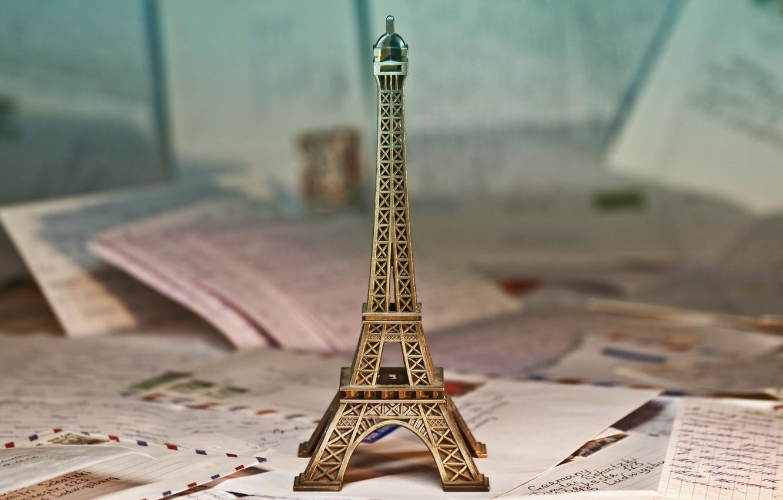 Photo wallpaper background, widescreen, Wallpaper, mood, toy, wallpaper, figurine, statue, Eiffel tower, widescreen, background, full screen, HD …