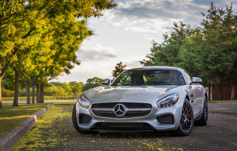 Photo wallpaper road, Mercedes-Benz, Sports car, Mercedes-AMG GT S