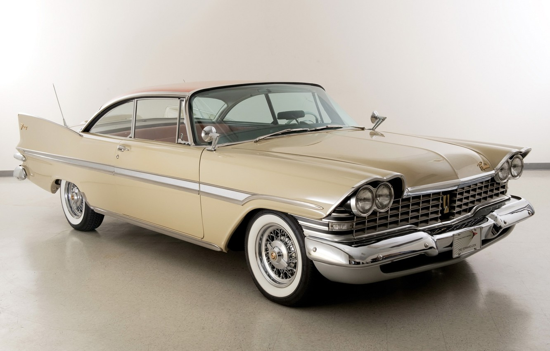 Photo wallpaper retro, car, Coupe, Plymouth, Plymouth, Hardtop, 1959, Fury