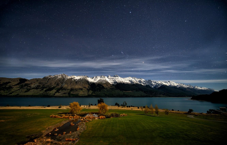 Photo wallpaper mountains, New Zealand, New Zealand, Lake Wakatipu, Lake Wakatipu