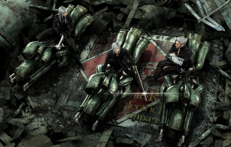 Photo wallpaper brothers, Kadaj, Final Fantasy 7, Vines, Yazoo, ff7