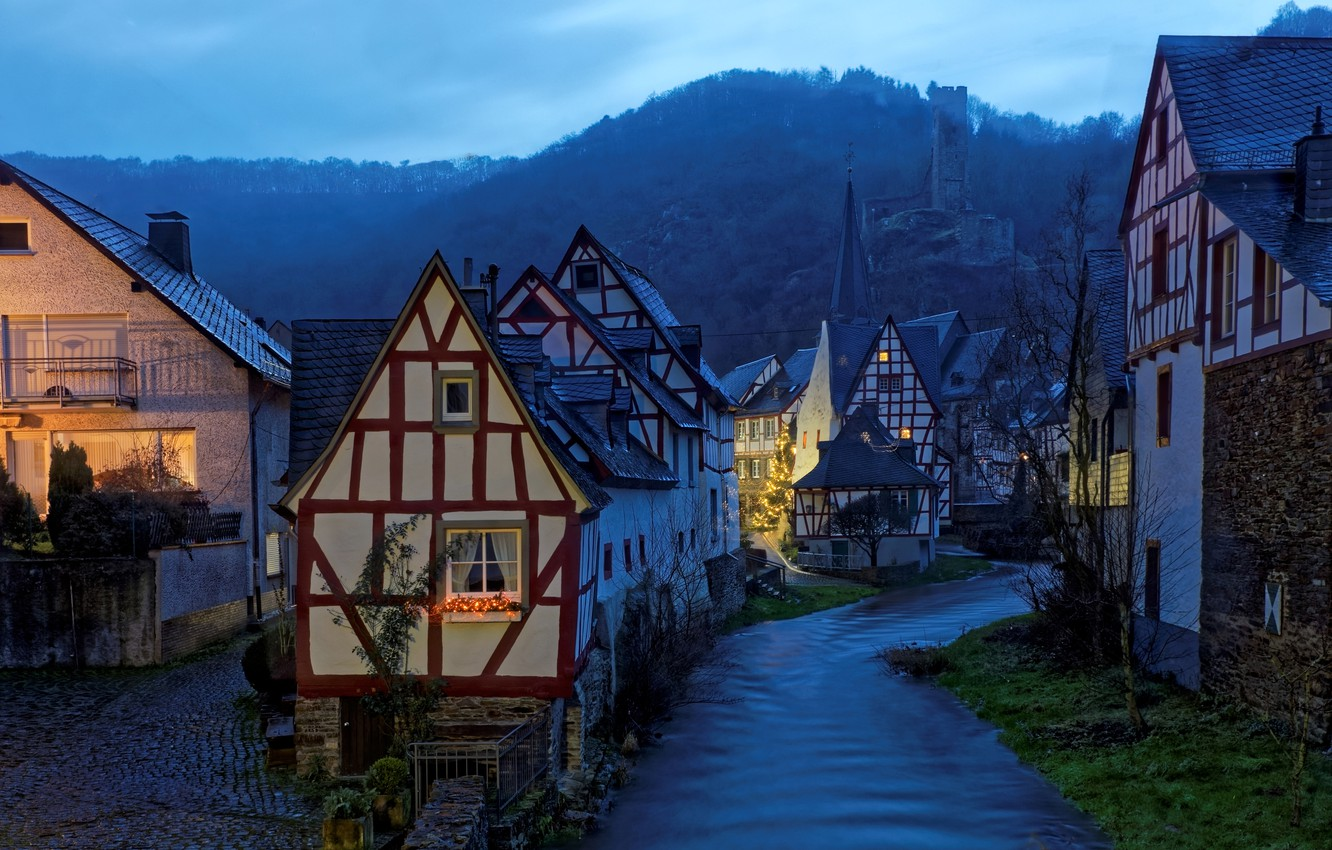 Photo wallpaper landscape, the evening, Germany, Monreal