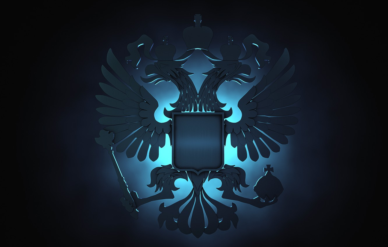 Photo wallpaper eagle, Russia, coat of arms