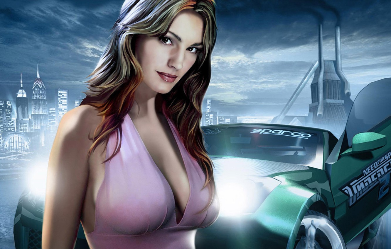 Wallpaper Girl, Machine, Girl, Car, NFS, Game, Need For Speed