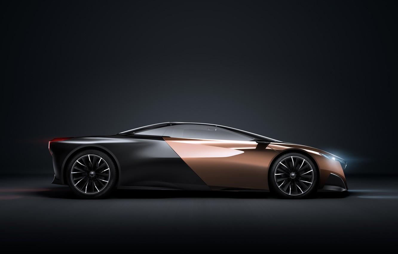 Photo wallpaper car, Concept, Peugeot, black, Onyx