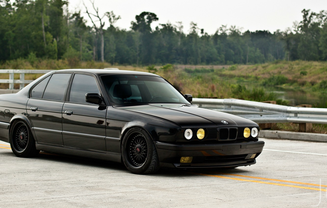 Photo wallpaper BMW, E34, BBS