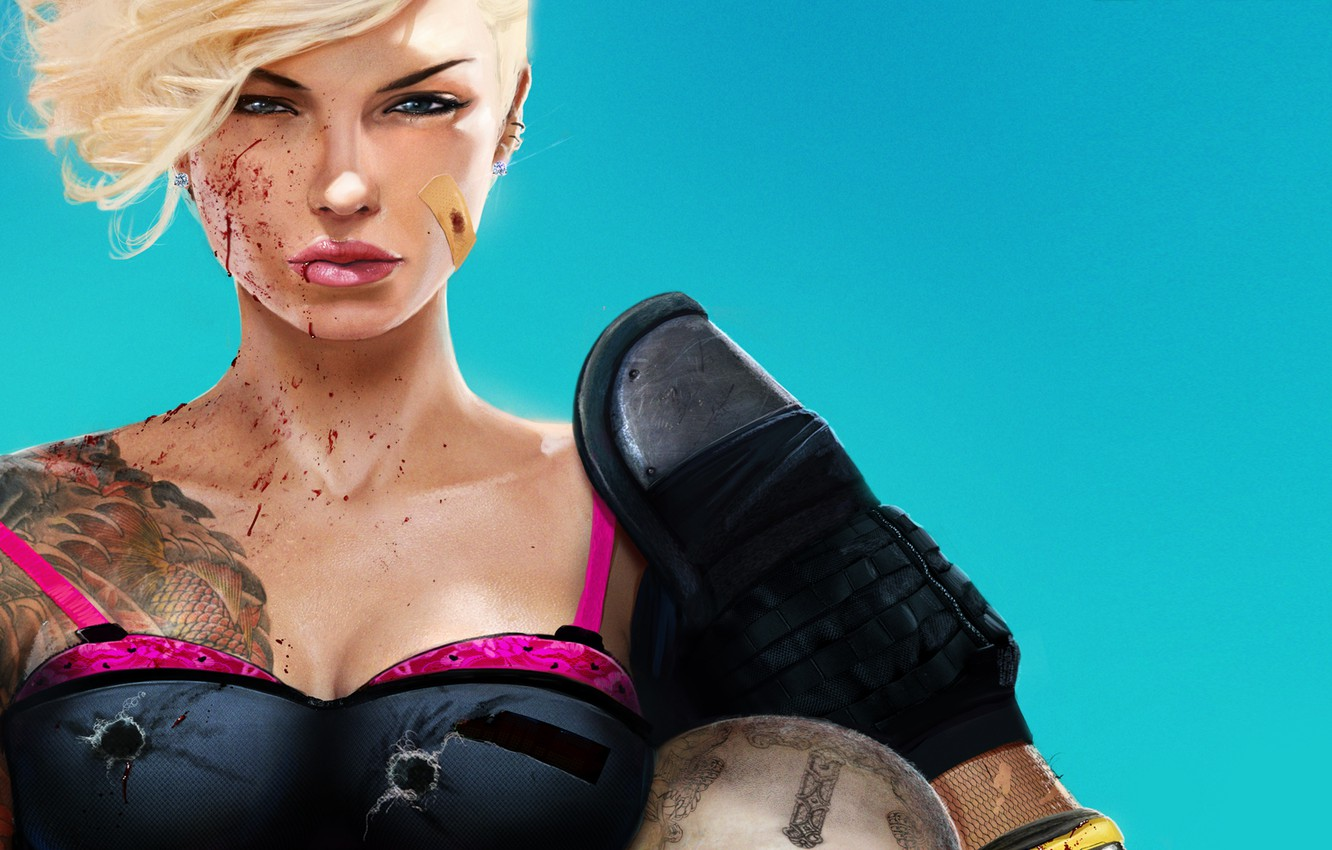 Photo wallpaper blood, blonde, LMS, the vest, the patch