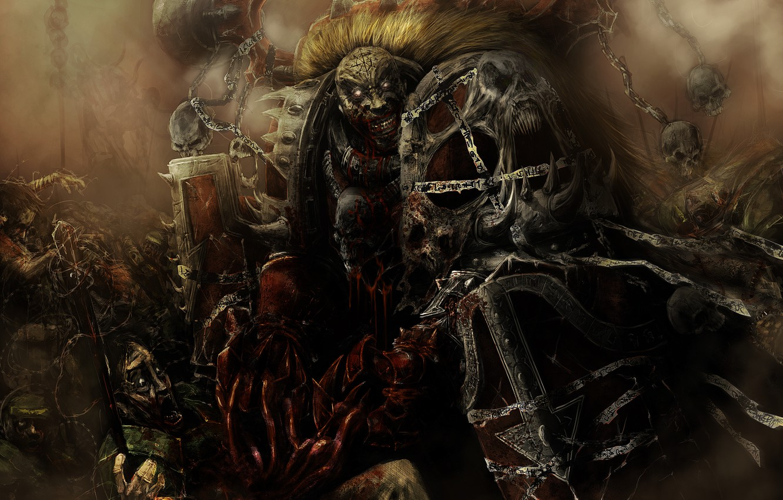 Wallpaper Death Blood Armor Skull Chaos Warhammer Madness