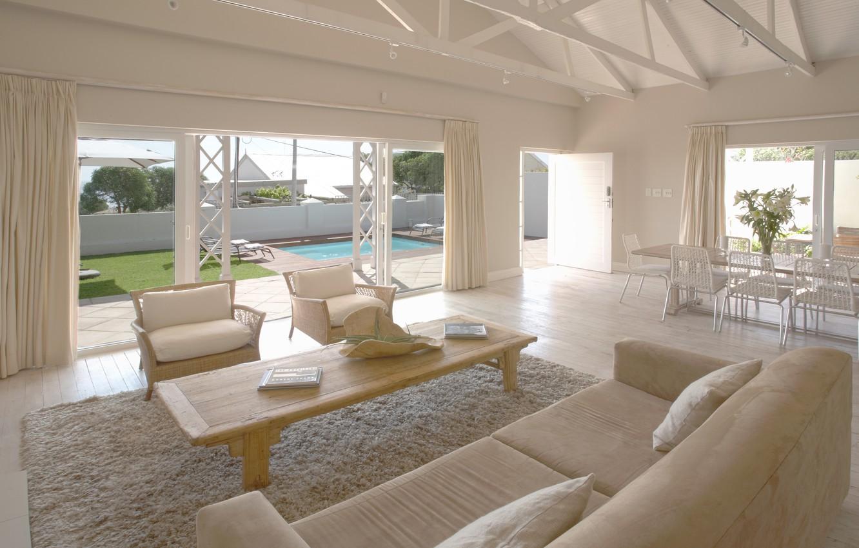Photo wallpaper house, table, room, Wallpaper, Villa, interior, chair, pool, wallpaper, sofas, Suite