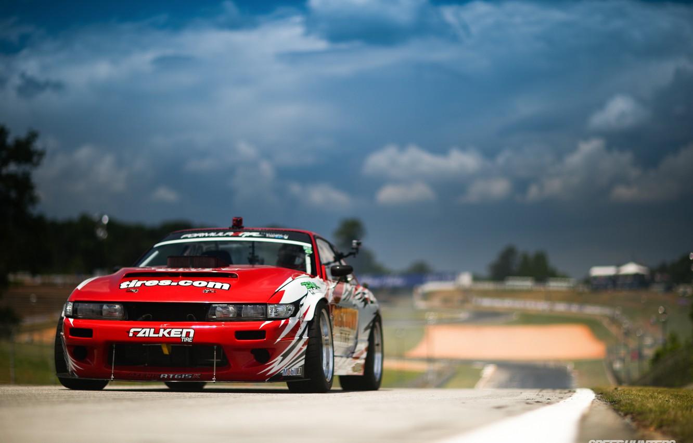 Photo wallpaper Nissan Silvia, S13, Hawks, Formula Drift, Formula D