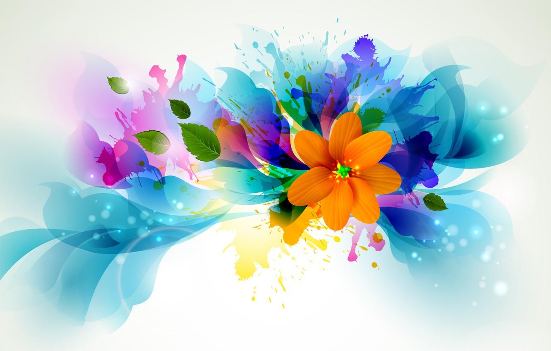 Photo wallpaper flower, line, squirt, petals, brightness
