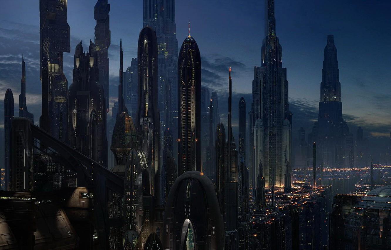 Photo wallpaper future, skyscrapers, The city