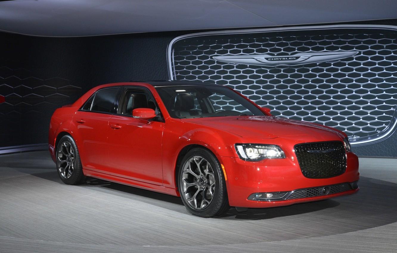 Photo wallpaper Chrysler, red, 300, 2015, podium