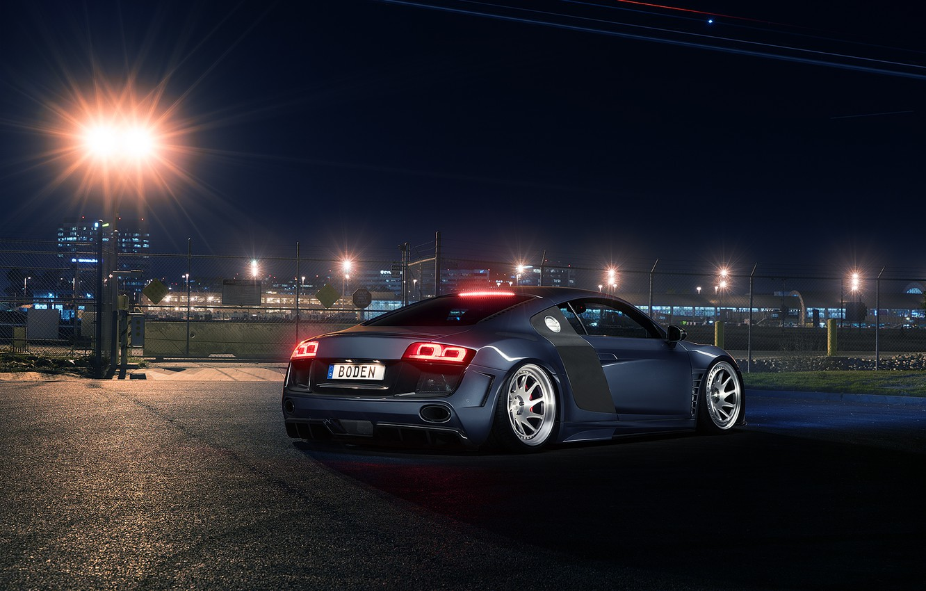 Photo wallpaper Audi, Light, Design, Sportcar, Airport, Prior, Rear
