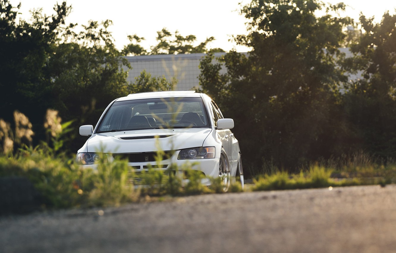 Photo wallpaper car, Tuning, mitsubishi, tuning, lancer, Lancer, stance, Evolution, Mitsubishi, EVO 9