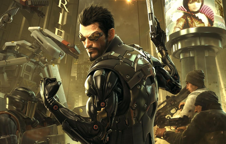 Photo wallpaper cyborg, Deus Ex: Human Revolution, cyberpunk, Adam Jensen, Square enix, Adam Jensen, cyborg, Eidos Interactive, …