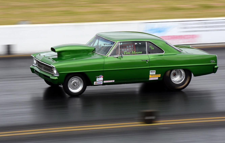 Photo wallpaper race, track, muscle car, drag racing