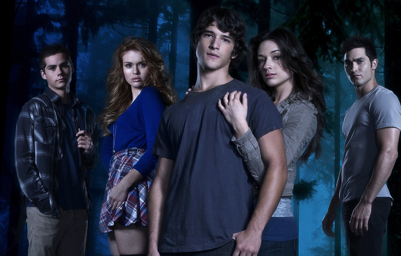 Photo wallpaper actress, the series, actor, Crystal Reed, Teen Wolf, Tyler Posey, Dylan O'Brien, Holland Roden, Tyler …