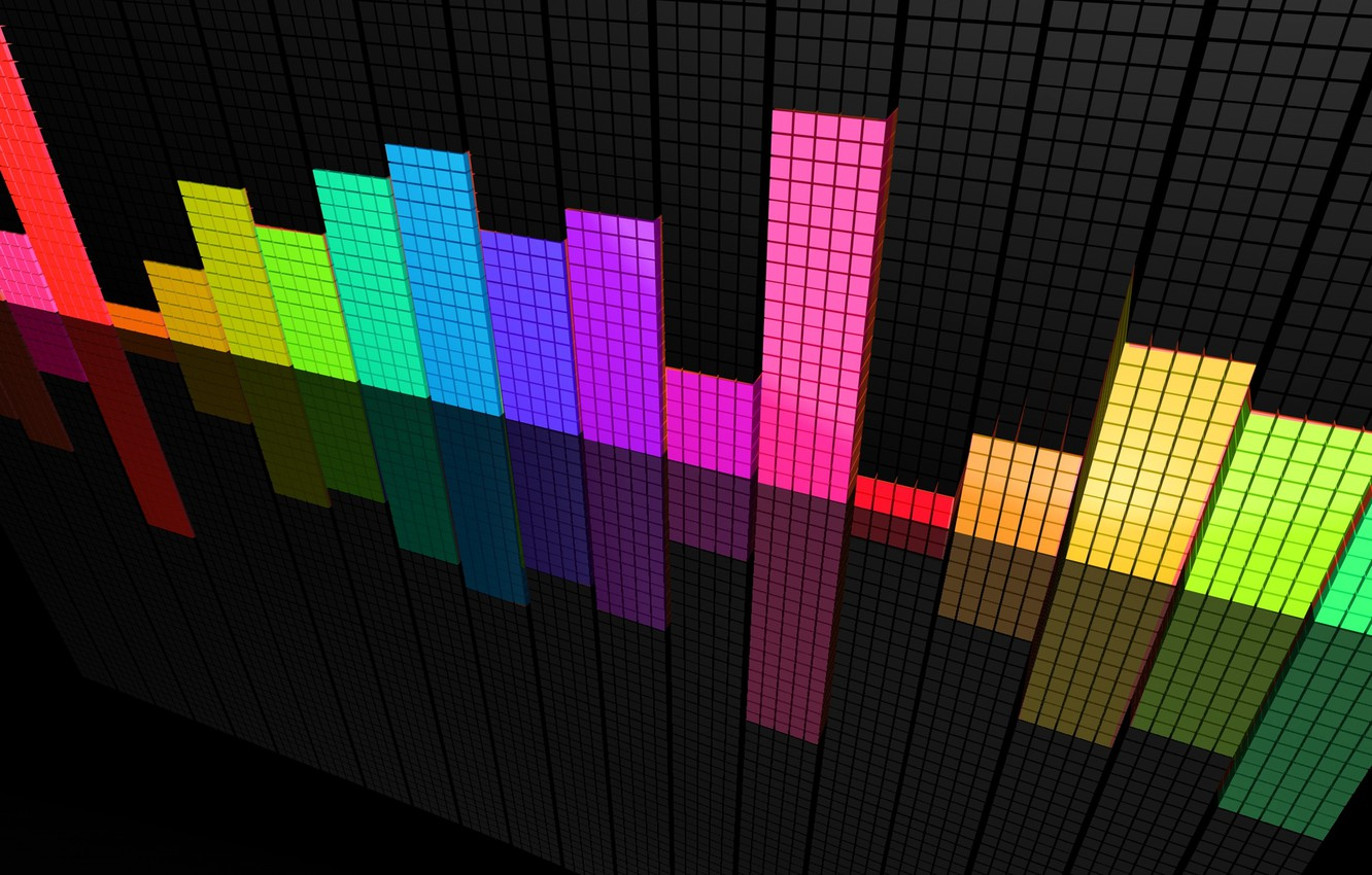 Photo wallpaper Colorful, Equalizer, Perspective